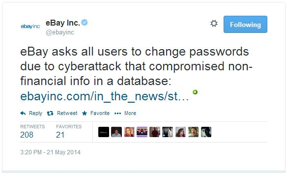 Ebay Becomes Victim Of Security Breach