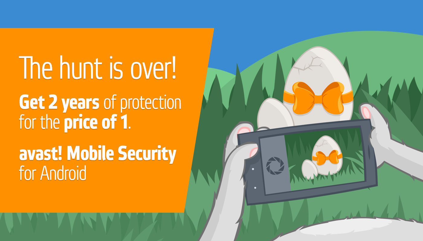 avast! Premium Mobile Security Easter sale.