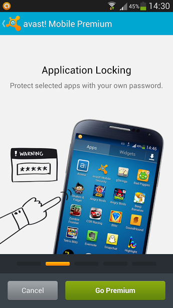 Lock your apps for privacy with avast! Mobile Security