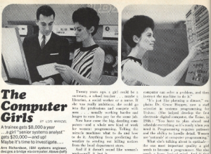 The Computer Girls article from Cosmo 1967
