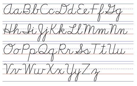 Learning handwriting