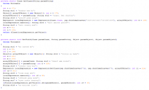 Decompiled Java source code exploiting the CVE-2012-4681 vulnerability