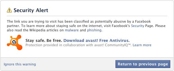 Facebook connects with AVAST to protect users