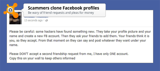 facebook clone warning