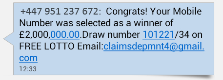 Congrats! Your mobile number was selected as a winner | Avast