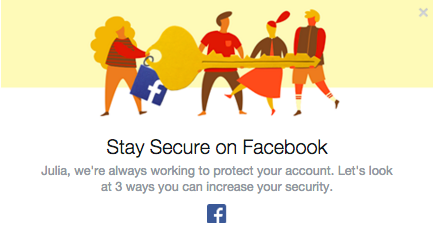 Don't ignore Facebook  alerts and take your time to improve your security