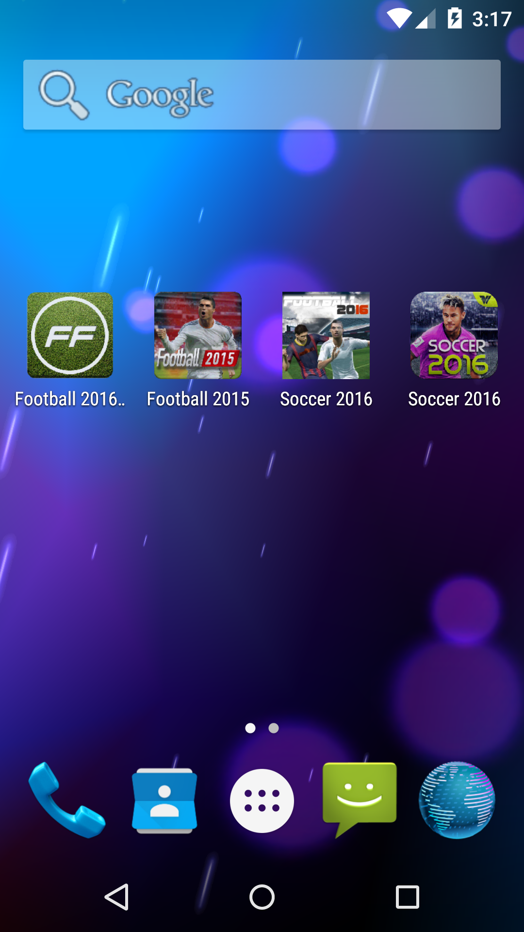 Ad heavy soccer apps on Google Play
