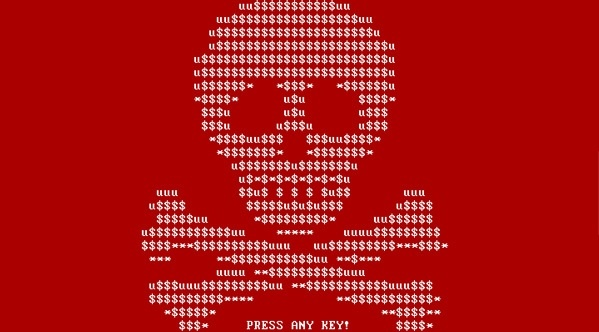 The initial warning message on the original version of the Petya ransomware