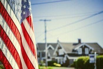 american flag neighborhood