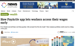 News.com.au article on daily pay benefits.
