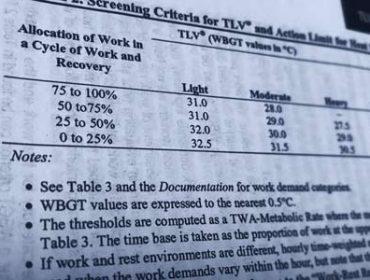 Metabolic Expenditure & Heat Stress