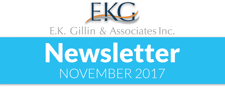 E.K. Gillin & Associates Inc. Newsletter - November 2017