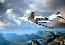 Cessna Citation-X In-flight