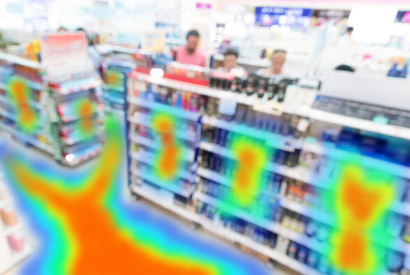 customer heatmap in a retail store