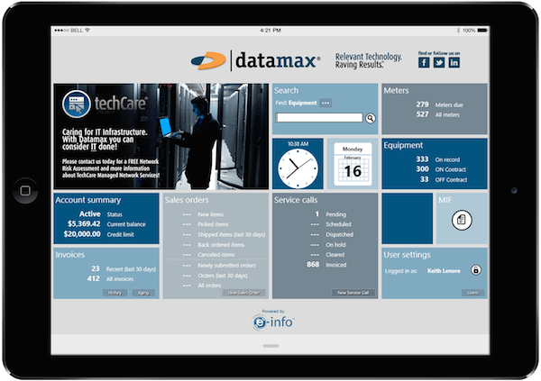 Datamax e-Info Customer Support