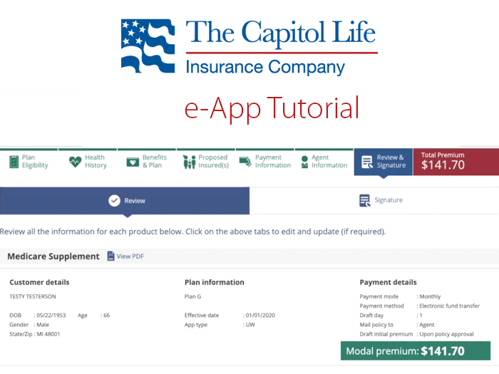 Video: Learning e-Apps – Capitol Life Medicare Supplement