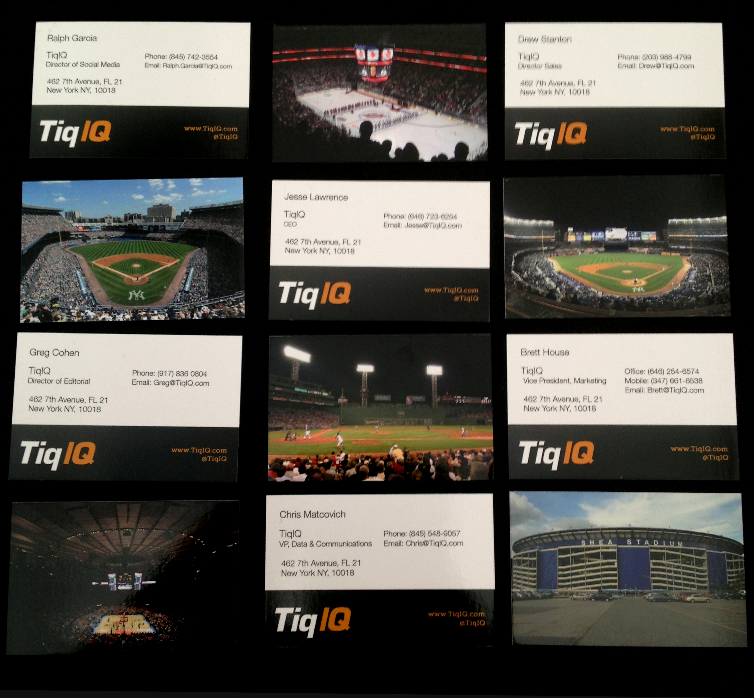 TicketIQ, MOO, and Our Favorite Venue Inspired Business Cards