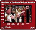 The Road to The NBA Finals Tiq Price Overview