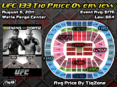 UFC 133 Price By TiqZone Breakdown