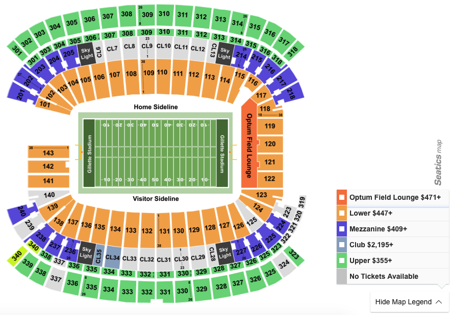 How To Find The Cheapest Patriots Vs. Cowboys Tickets