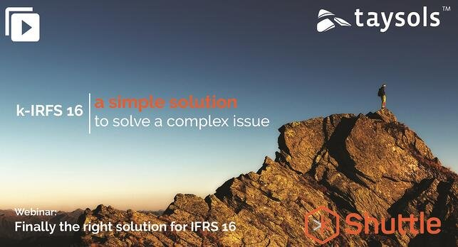 Finally the right solution for IFRS 16