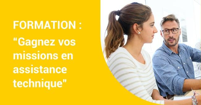 Jeudi 27 février 2020 FORMATION «Gagnez vos missions en assistance technique» – Formation en ligne