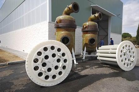 Carcasas a presión y filtros de cartuchos