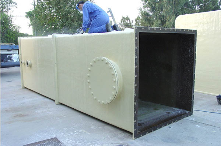 sistema de conductos cuadrados para aspiración de gases