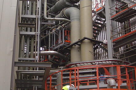 Sistema de tuberías para planta de desulfuración