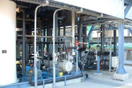 sistema de tuberías en plantas de microfiltración y biotratamiento