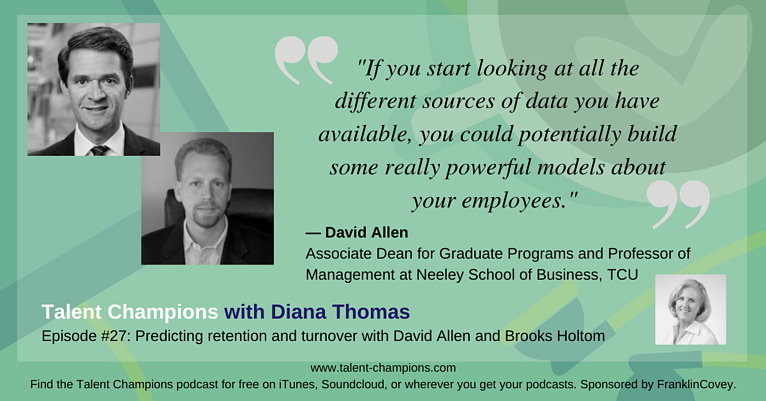 Listen In: The Talent Champions with Diana Thomas Podcast Discusses Predictive Retention