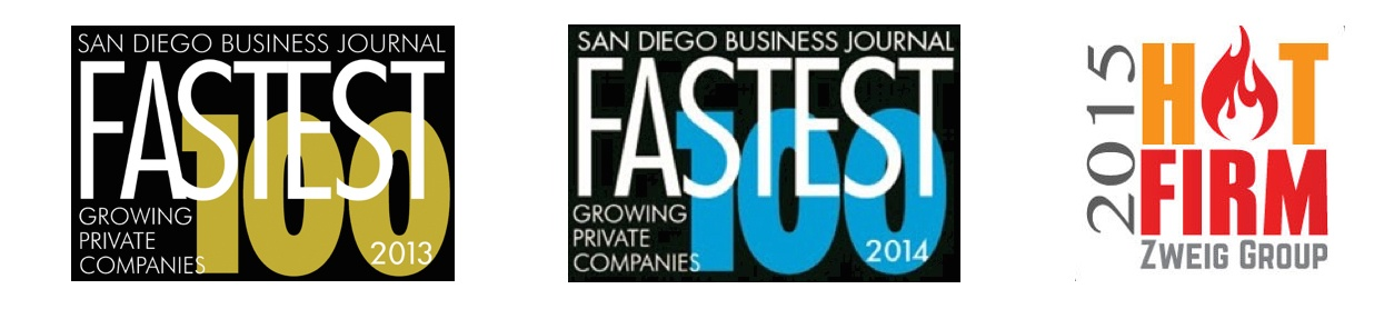 Xpera Group is honored to have been awarded the 2015 Zweig Group Hot List award, and was one of San Diego's fastest 100 growing companies two years in a row