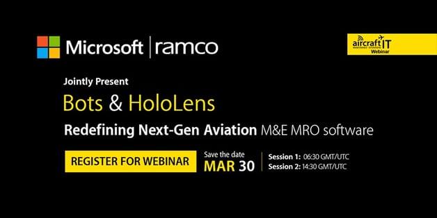 Webinar on Bots & Hololens in Aviation MRO. Register now..jpg