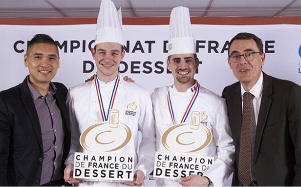 Gaël Reigner et François Josse sont les deux nouveaux Champions de France du Dessert