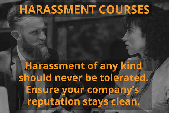 Harassment course graphic