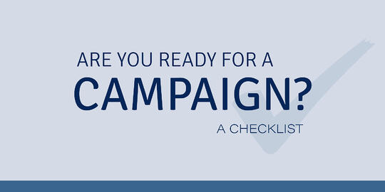 Campaign Readiness Checklist