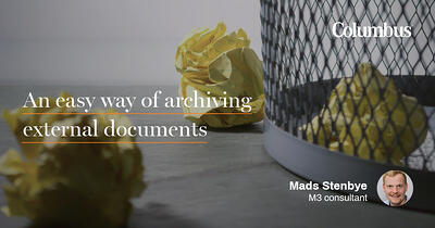 An easy way of archiving external documents
