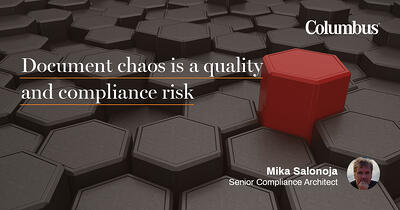 Document chaos is a quality and compliance risk