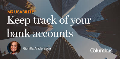 Keep track of your bank accounts