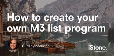 How to create your own M3 list program