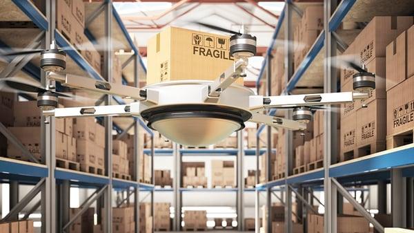 Использование дронов на складах