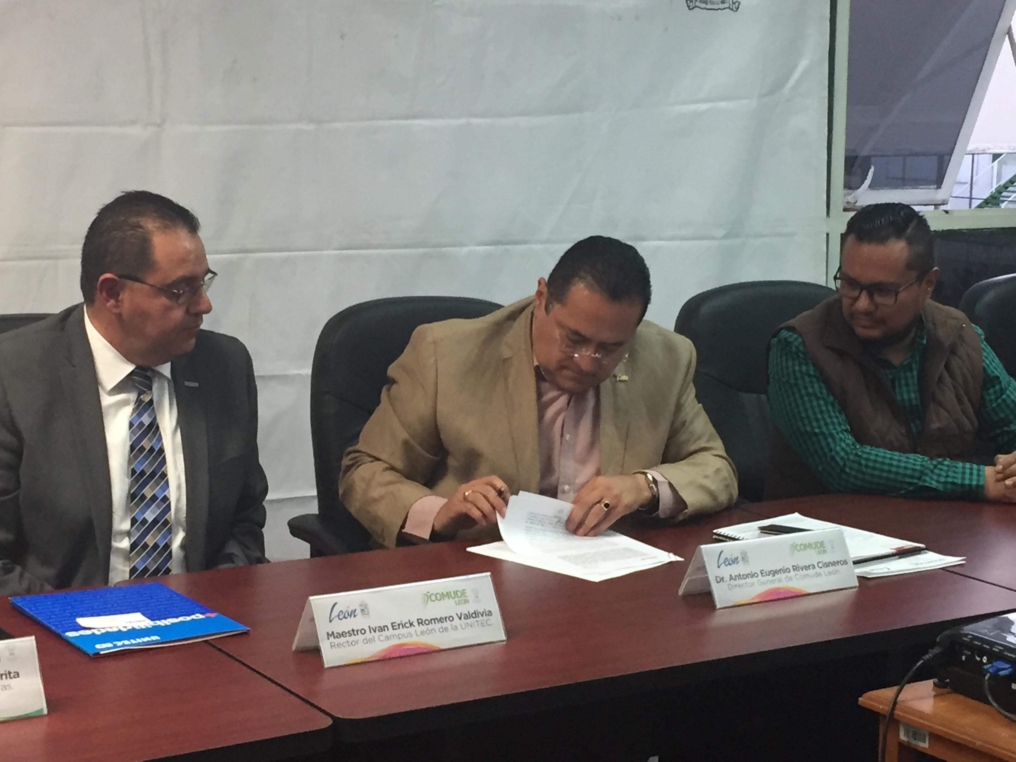 UNITEC Campus León y Comude firman convenio de colaboración - Featured Image