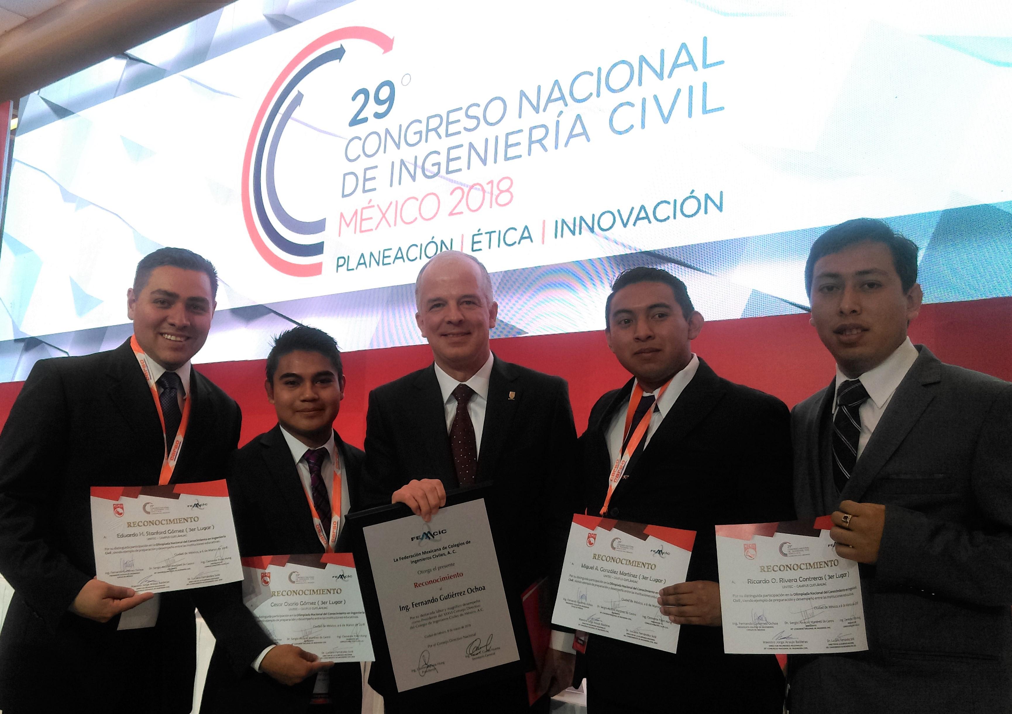 Representantes de UNITEC obtienen 3er. lugar en Olimpiada Nacional de Ing. Civil - Featured Image
