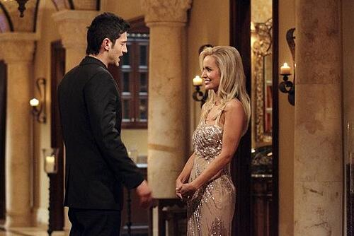 """THE BACHELORETTE - On the premiere, """"Episode 801,"""" Emily's journey begins in her hometown of Charlotte, North Carolina, where she lives with her six-year-old daughter, Ricki. After saying """"good night"""" to Ricki, Emily arrives at a southern mansion where she meets her 25 potential soulmates who have traveled across the country. They include a biology teacher, a mushroom farmer, a marine biologist and a ex-professional football player. Emily is nervous, but her anxiety slips away and soon turns to laughter as a single dad produces a glass slipper and proclaims her a princess; a youthful entrepreneur swoops in on a skateboard; a party MC shows off his dance moves; and a southern gentleman brings something special that symbolizes his dedication to protecting her and Ricki. But although one man's grand entrance in a helicopter impresses Emily, it only makes him a target of jealousy and ridicule from the other bachelors, in the eighth edition of """"The Bachelorette,"""" the female version of ABC's hit romance reality series, premiering MONDAY, MAY 14 (9:31-11:00 p.m., ET), on the ABC Television Network. (ABC/CRAIG SJODIN) ALEJANDRO, EMILY MAYNARD"""