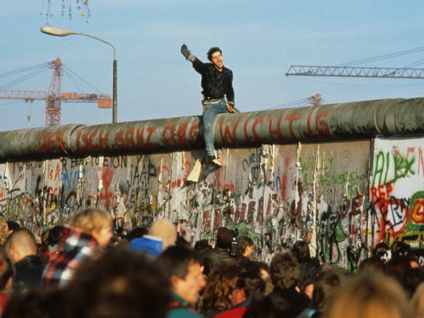 Gen X breaking the Berlin Wall. Photo courtesy  Pinterest