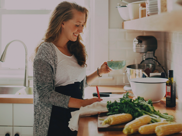 Laura Wright in her kitchen.  Photo:  Laura Wright (The First Mess)