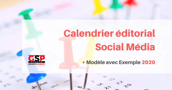 Calendrier Editorial Social Media
