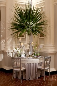Silver Shantung with Custom White Garden Pearl Band   BBJ Linen