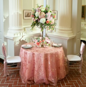 Blush Ambiance with Custom Pink Shantung Napkins   BBJ Linen