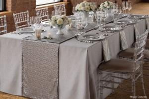 Table Runner New 119 Silver Wedding